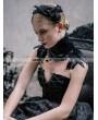 Devil Fashion Black Gothic Feather Collar Shawl