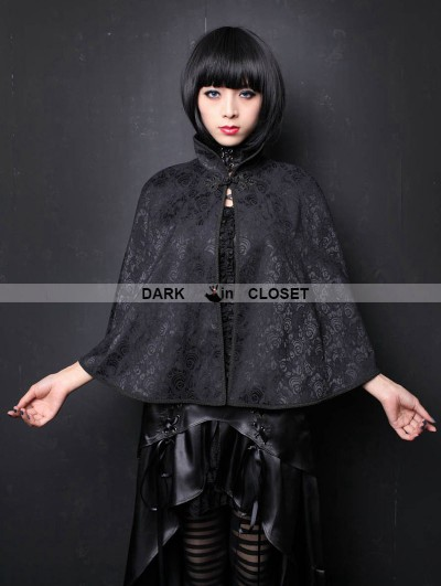 Pentagramme Black Pattern Gothic Shawl for Women