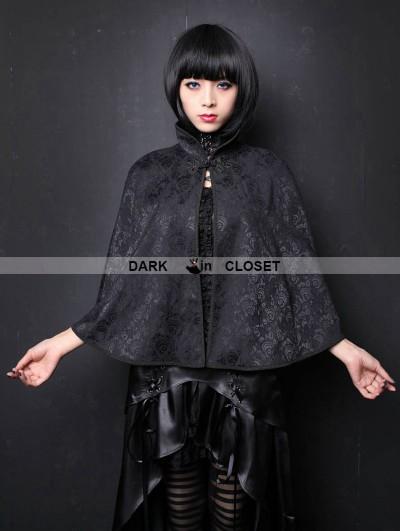 Pentagramme Black Pattern Gothic Shawl for Women