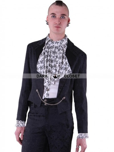 Pentagramme Black Gothic Swallow Tail Jacket for Men