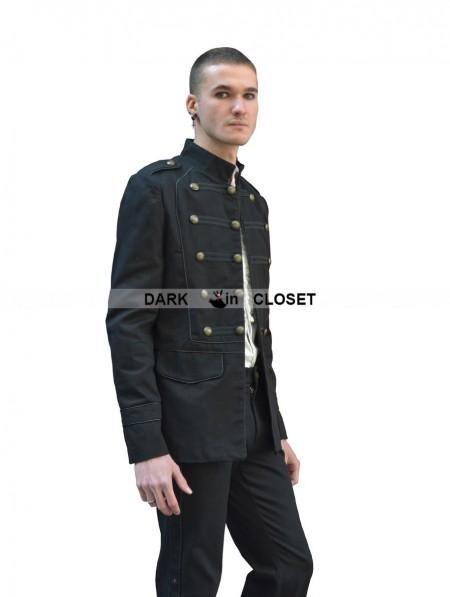 Pentagramme Black Gothic Military Style Jacket for Men ... | 450 x 597 jpeg 24kB