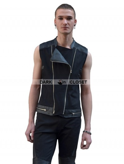 Pentagramme Black Gothic Punk Sleeveless Shirt for Men