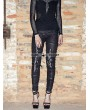 Devil Fashion Black Knitting Hole Gothic Punk Legging for Women