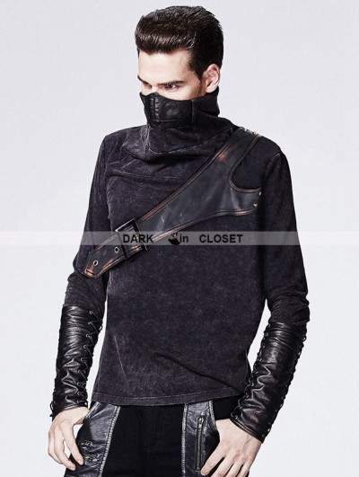 Punk Rave Gothic Steampunk Shirt for Men