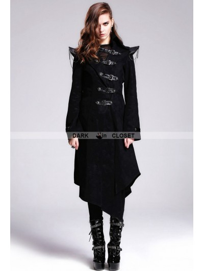 Devil Fashion Black Gothic Punk Skull Jacket for Women