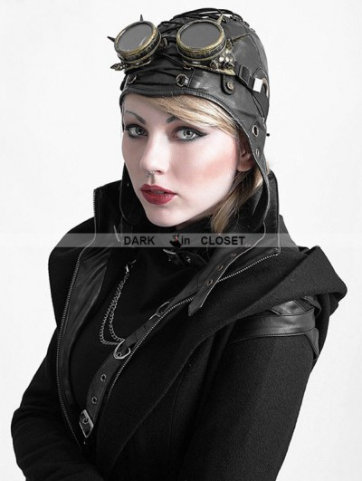 Punk Rave Steampunk Pilot Hat