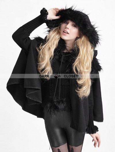 Punk Rave Black Gothic Lolita Cape