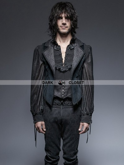Punk Rave Gothic Gorgeous Long Tuxode Vest