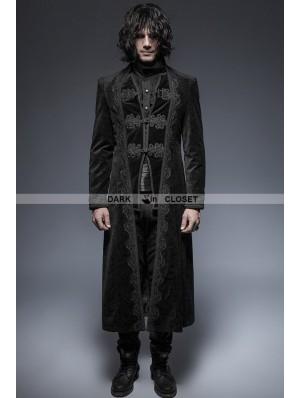 Punk Rave Black Gorgeous Vintage Style Gothic Long Coat for Men