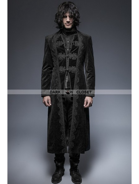 Punk Rave Black Gorgeous Vintage Style Gothic Long Coat