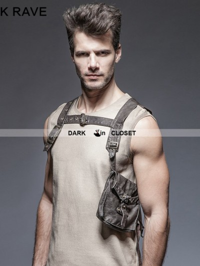 Punk Rave Steampunk Single Pocket Vest