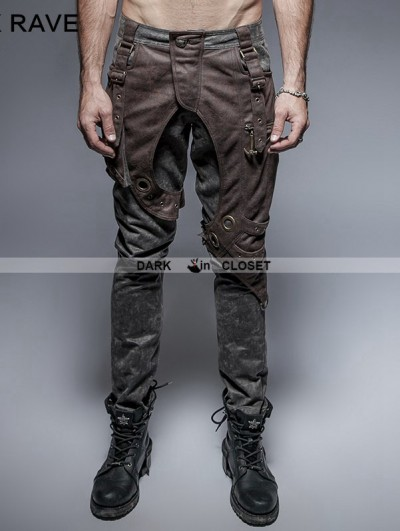 Punk Rave Alternative Steampunk Mens Trousers