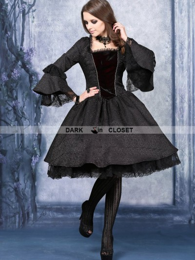 Dark in Love Black Victorian Style Gothic Dress