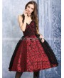 Dark in Love Red and Black Lace Halter Gothic Dress
