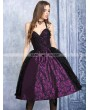 Dark in Love Purple and Black Lace Halter Gothic Dress