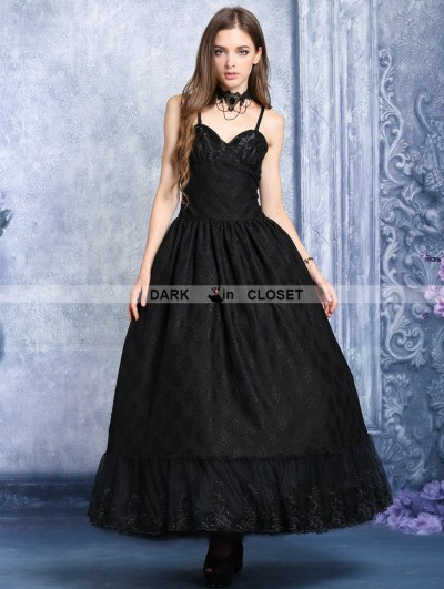 Dark in Love Black Gothic Dress with Layer upon Layer