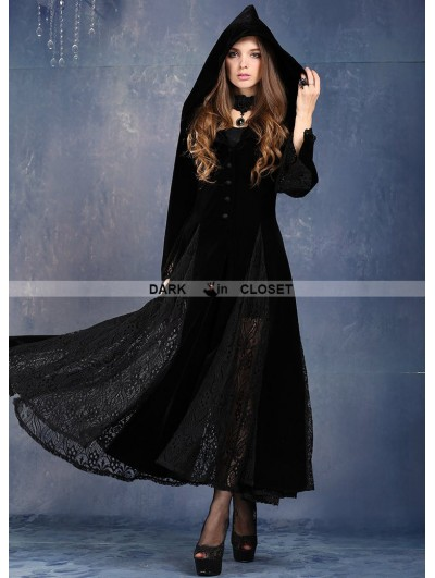 Dark in Love Black Long Sleeves Gothic Vampire Dress