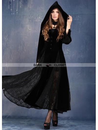 Dark in Love Black Long Sleeves Gothic Vampire Dress