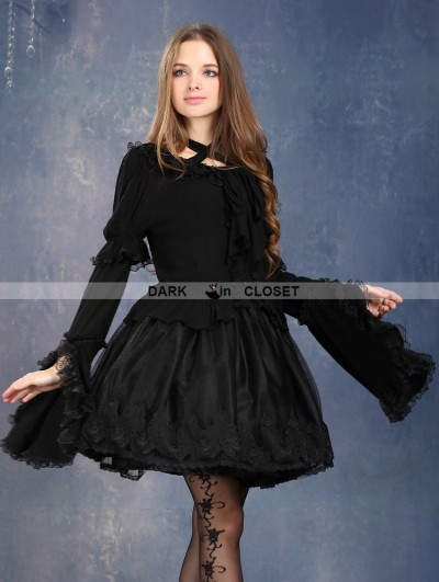 Dark in Love Dark Lorie Gothic Blouse for Women
