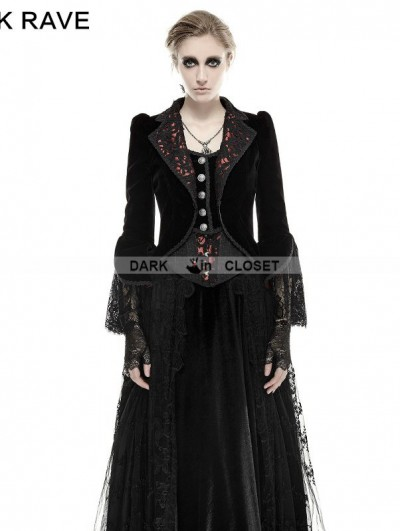 Punk Rave Romantic Gothic Flower-De-Luce Coat for Women