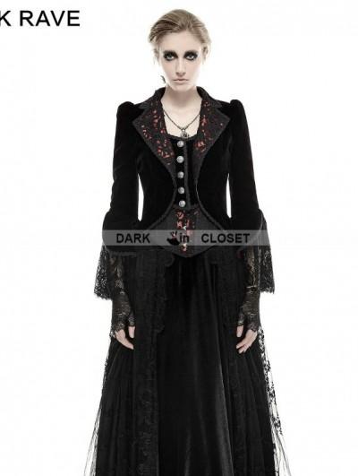 Punk Rave Romantic Gothic Flower-De-Luce Coat for Women
