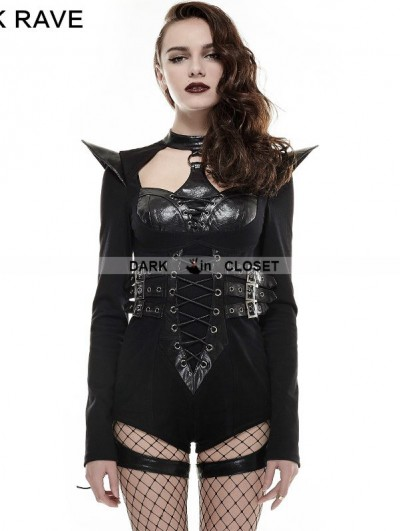 Punk Rave Black Gothic Punk Jumpsuit