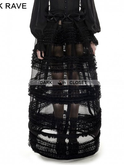Punk Rave Black Gothic Multi-Level Skirt