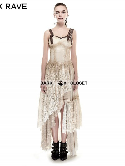 Punk Rave Asymmetrical Hem Lace Do Old Steampunk Dress