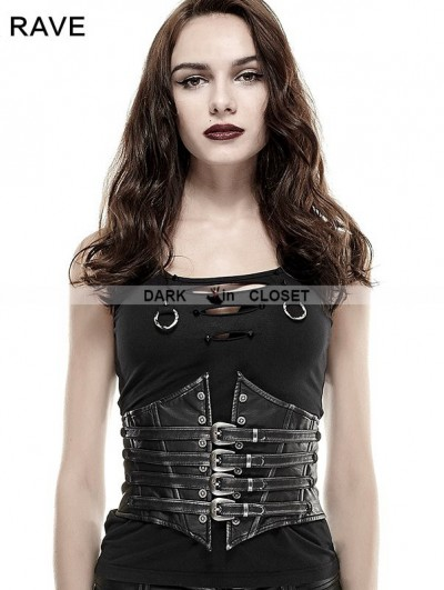 Punk Rave Gothic Punk Waist with Buckle Loop