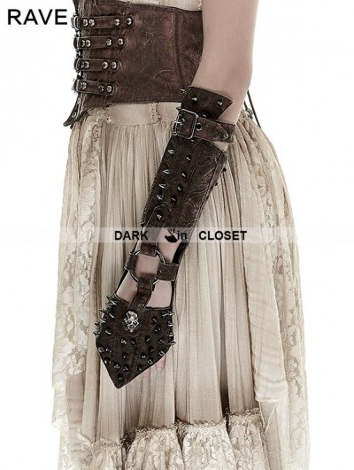 Punk Rave Coffee Handsome Cross Spike Steampunk Gloves