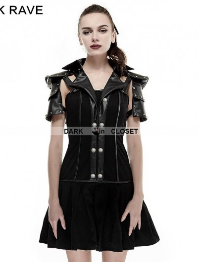 Punk Rave Black Armor Handsome Military Uniform Dress