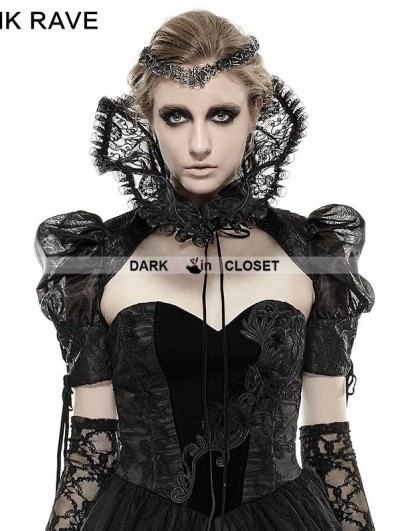 Punk Rave Black Metal Flower Gothic Collar