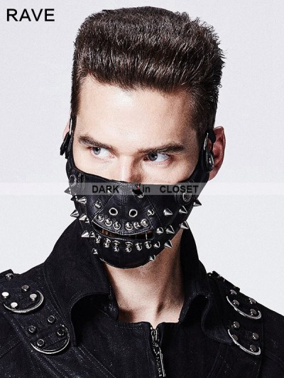 Punk Rave Black Rivet Mask