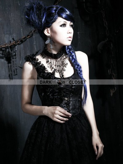 Punk Rave Gothic Pin Skull Necklace
