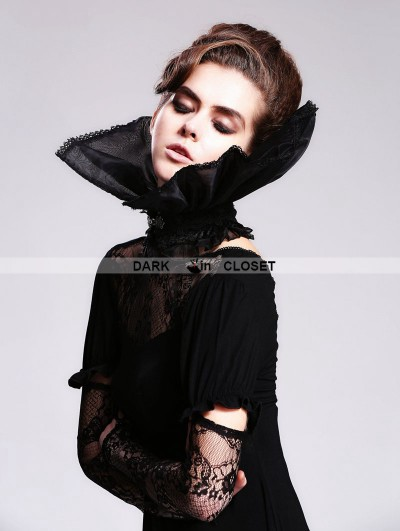 Devil Fashion Black Gothic Queen Style Collar for Women