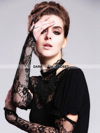 Devil Fashion Black Tassels Gothic Necklace for Women