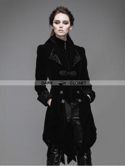 Devil Fashion Black Vintage Gothic Swallow Tail Jacket for Women