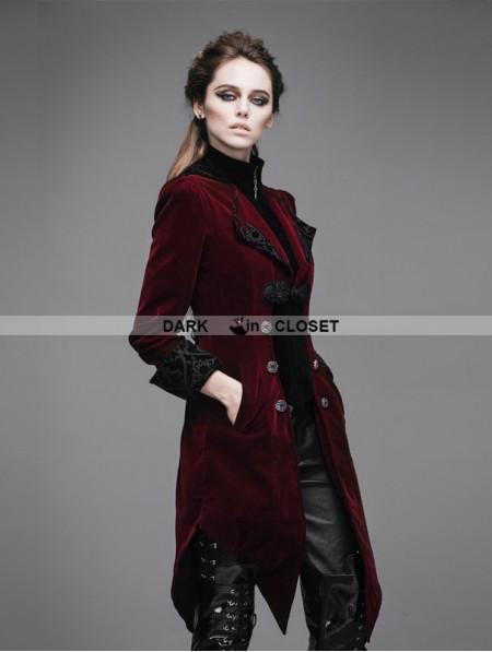 Devil Fashion Wine Red Vintage Gothic Swallow Tail Jacket ...   450 x 597 jpeg 31kB