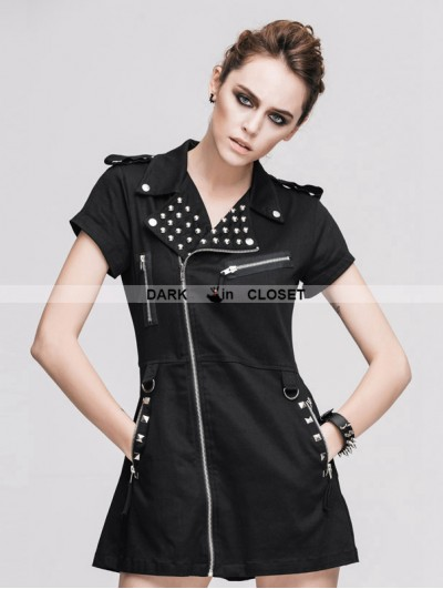 Devil Fashion Black Short Sleeves Gothic Punk Sexy Dress