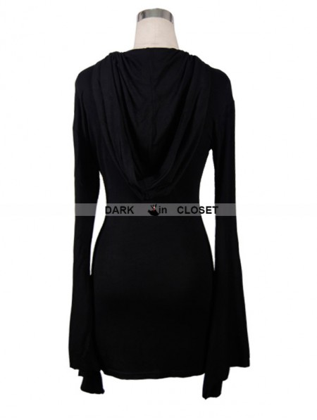 Devil Fashion Black Gothic Witch Sexy Hooded Dress for Women ... 353f70a77f