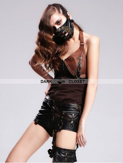 Devil Fashion Leather Steampunk Mask
