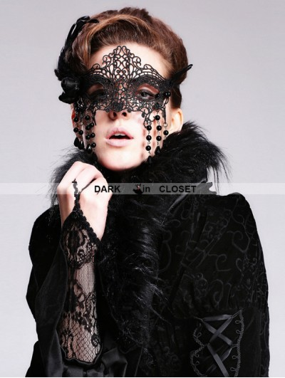 Devil Fashion Black Lace Pendant Gothic Mask