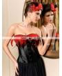Black Feather Burlesque Overbust Corset