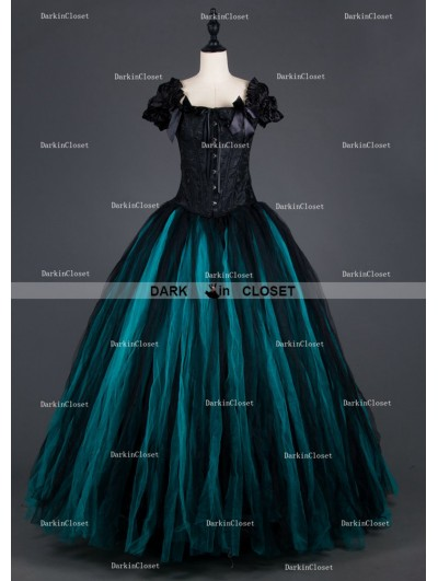 Romantic Gothic Cap Sleeves Long Prom Party Gown