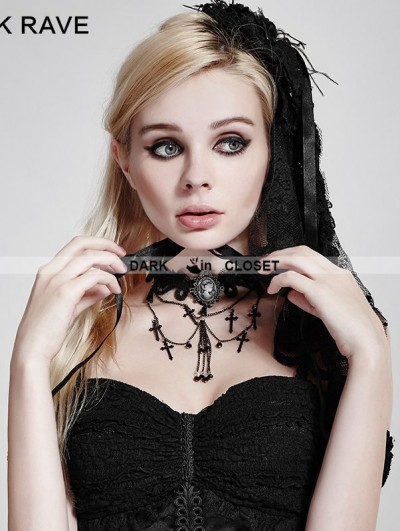 Punk Rave Gothic Cross Necklace