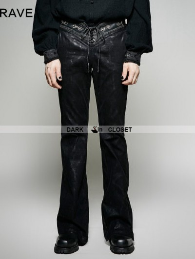 Punk Rave Black Gothic Bell-Bottoms for Men
