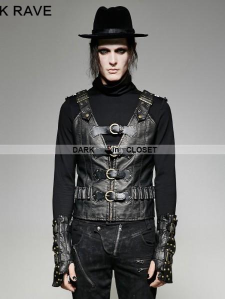 Punk Rave Black PU Leather Army Uniform Style Steampunk ...   450 x 597 jpeg 49kB
