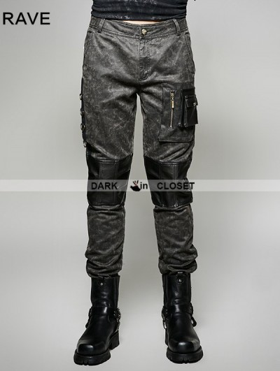 Punk Rave Gothic Old Style Military Style Trouser for Men