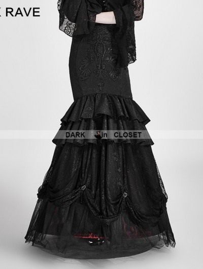 Punk Rave Black and Red Gothic Detachable Two-Wear Gothic Skirt