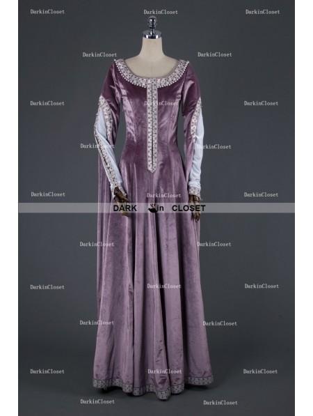 Medieval Night Elegant Purple Velvet Vintage Medieval